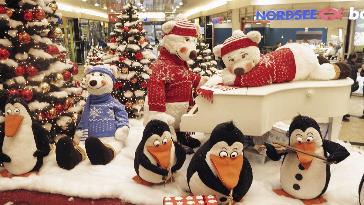 Dětské vánoční koutky tučňáci