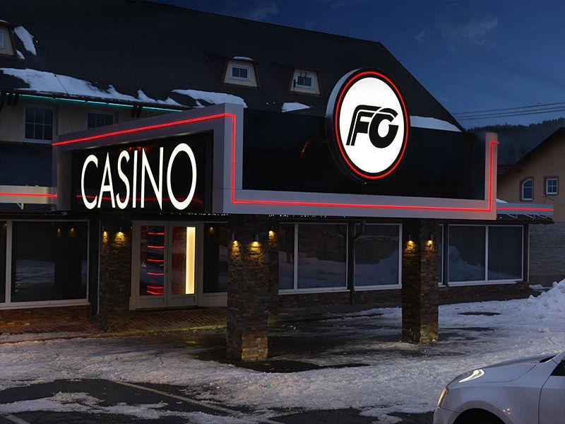 Casino, světelná výzdoba