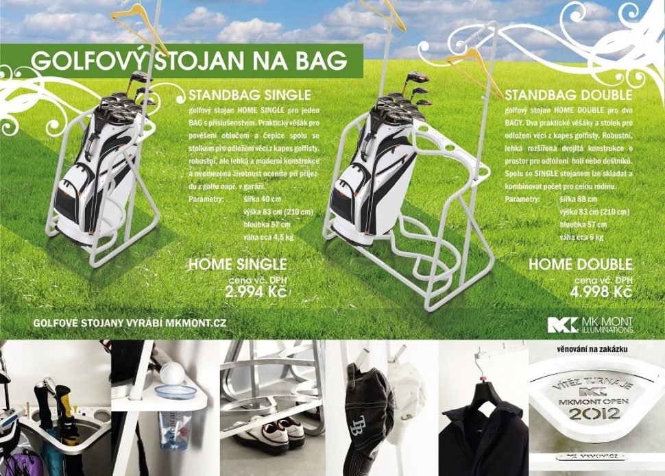 MK golf stojany