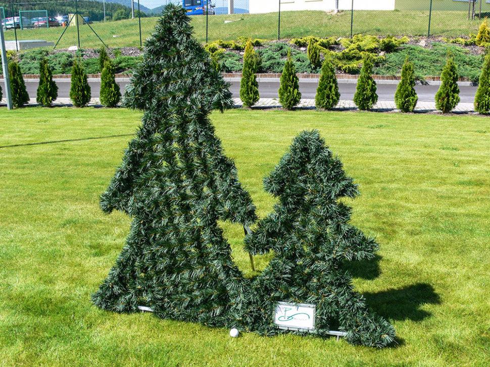 PVC stromky dekorace nagolf