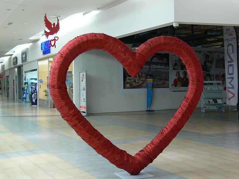 Valentýnská dekorace srdce