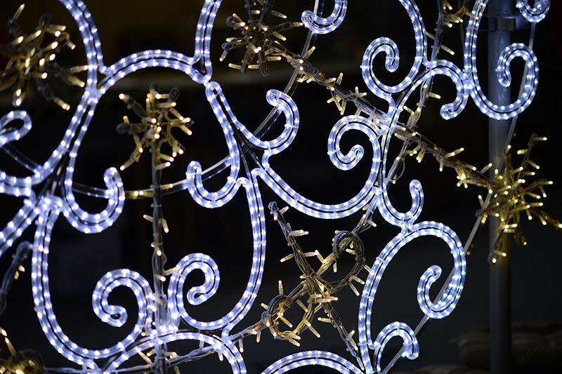 Detail světelného LED dekoru