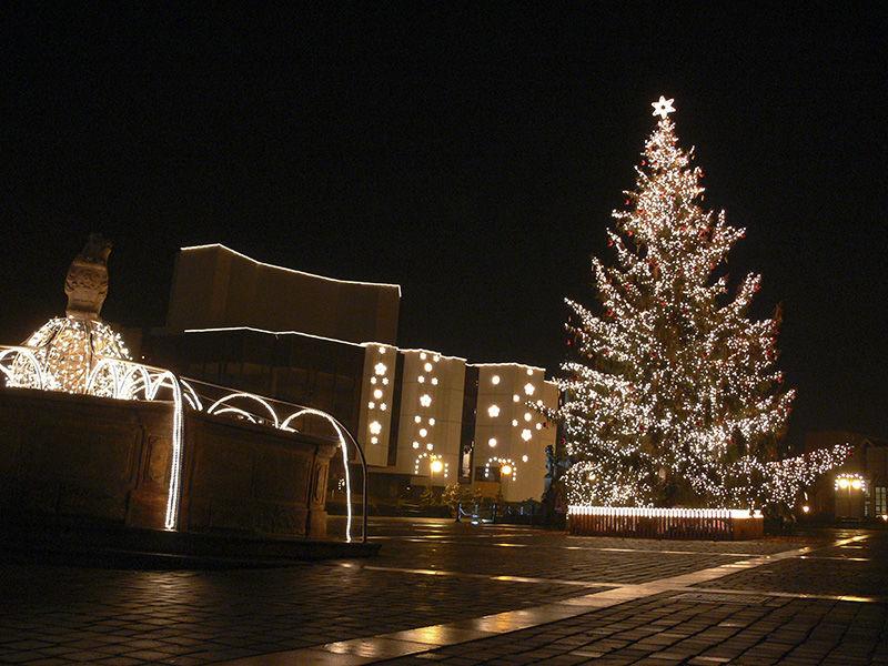 Světelná vánoční výzdoba vMostě 2005