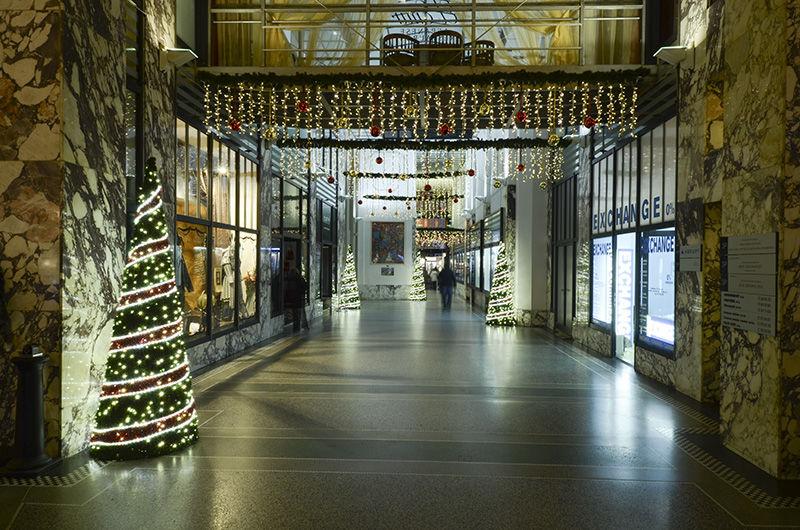 Vánoční výzdoba interiéru vPaláci Koruna