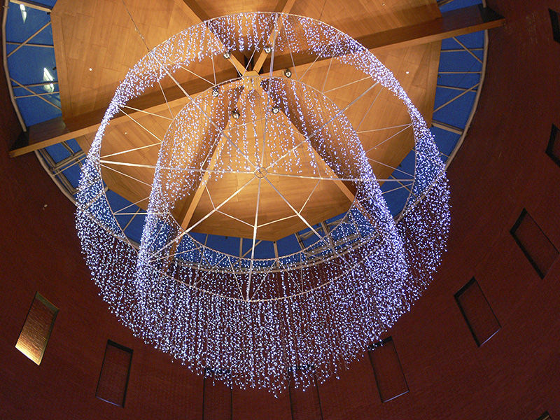 LED světelný lustr vOC Chodov
