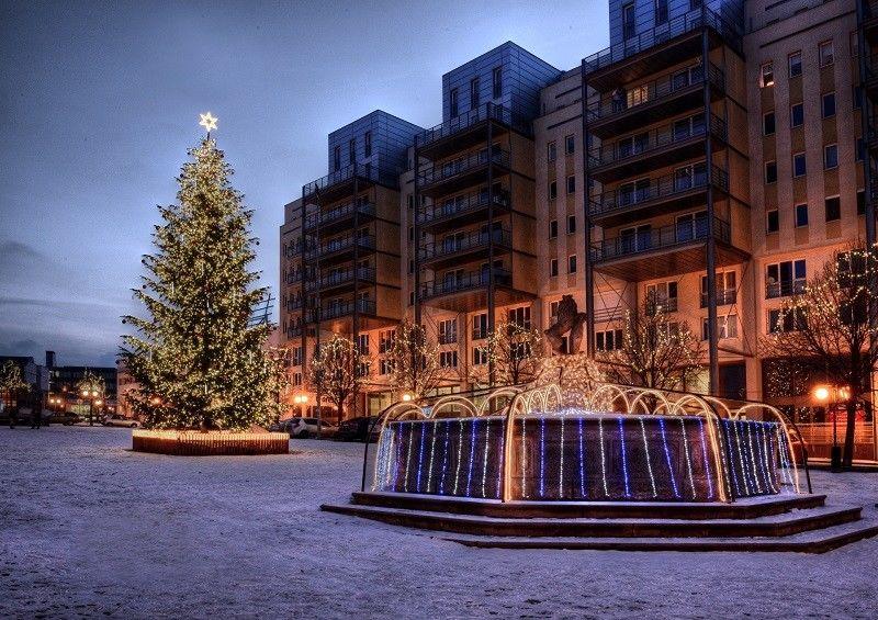 Světelná vánoční výzdoba vMostě