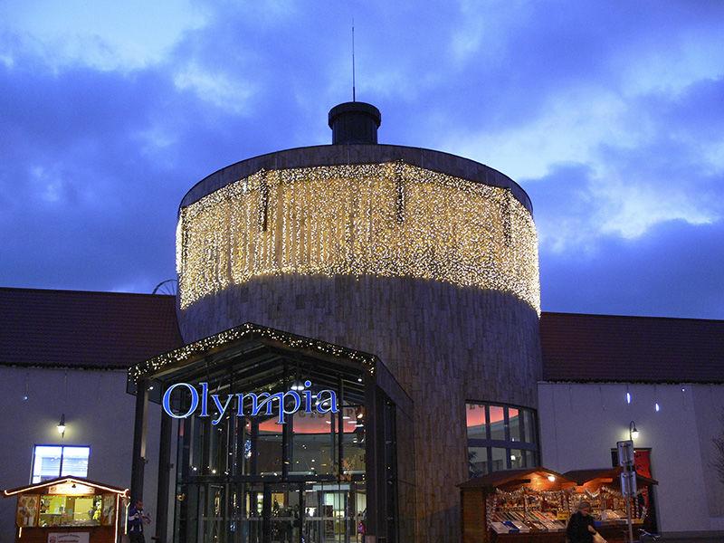 LED světelné závěsy vOC Olympia Olomouc
