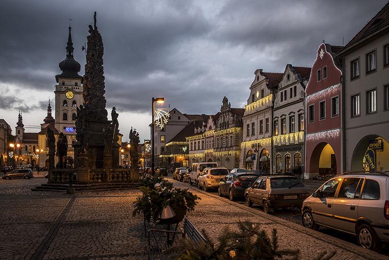 Světelná vánoční výzdoba náměstí vŽatci