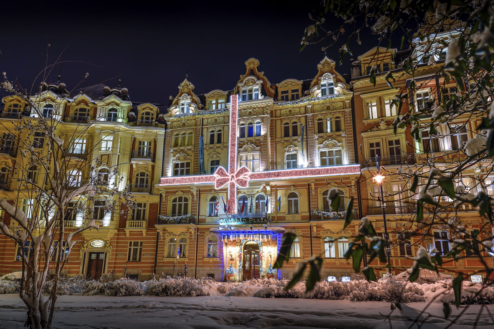 Vánoční výzdoba Carlsbad Plaza Medical Spa & Wellness hotel