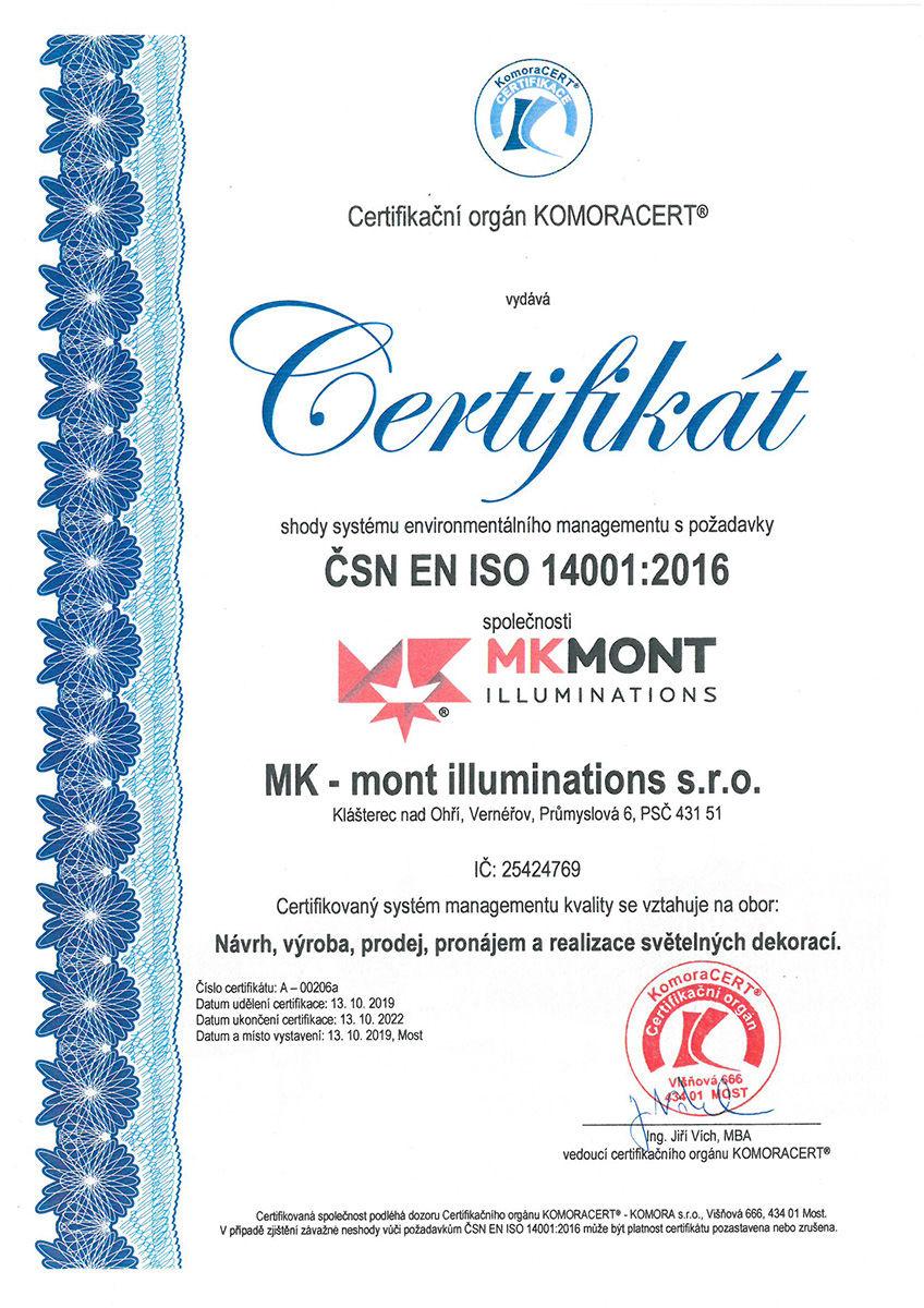 cerfitikát ČSN-EN-ISO-9001-2019-2022