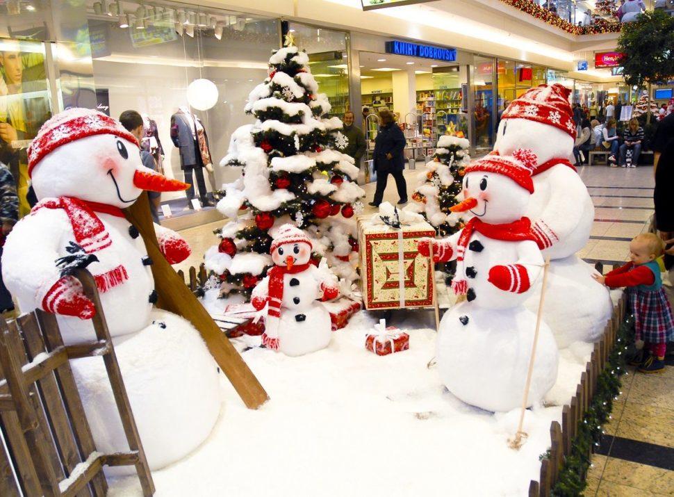 Dětské vánoční koutky sněhuláci